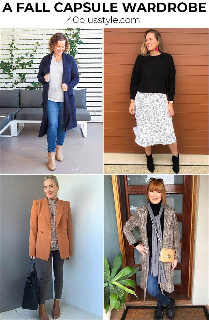 A fall capsule wardrobe with all the best trends for Fall 2020 | 40plusstyle.com