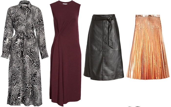 Skirts and dresses for a fall capsule wardrobe | 40plusstyle.com