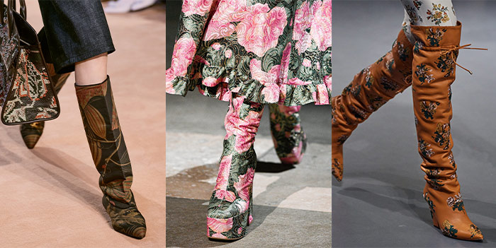 floral boots  | 40plusstyle.com