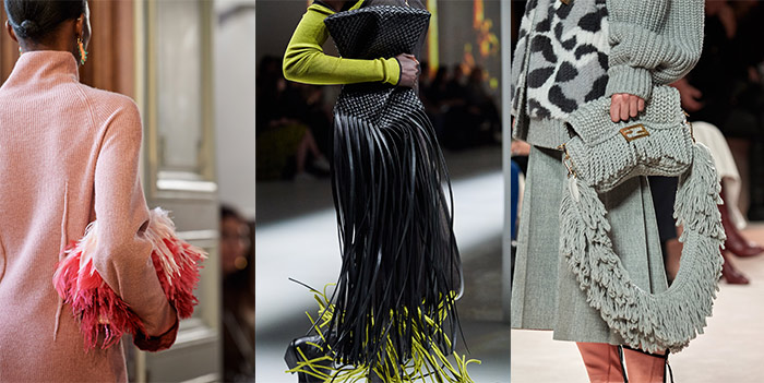 fringing and feathers on fall handbags   40plusstyle.com