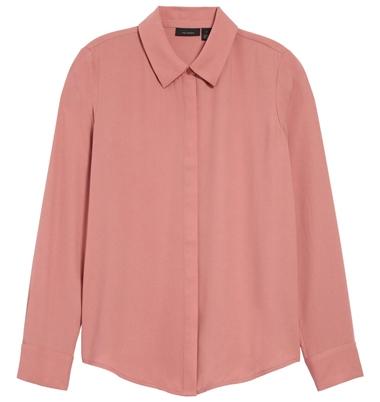 Halogen hidden button blouse   40plusstyle.com