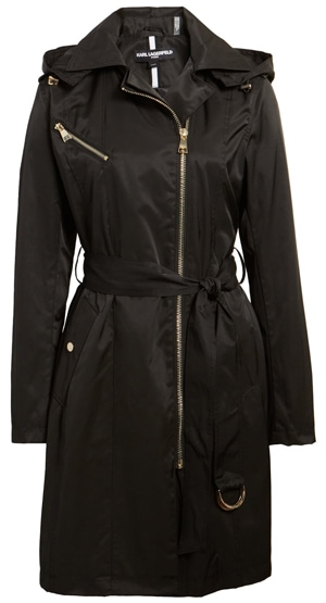 Karl Lagerfeld Paris trench coat | 40plusstyle.com