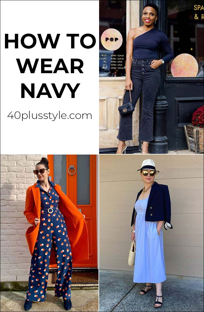How to wear navy: Color palettes and styles for you to choose from | 40plusstyle.com