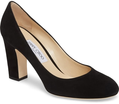 Jimmy Choo 'Billie' suede pump | 40plusstyle.com