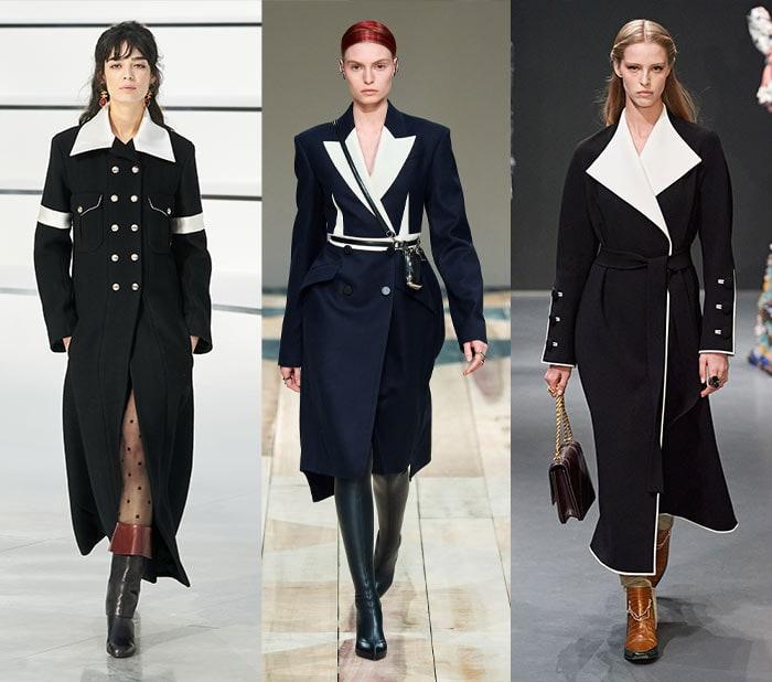 Fall fashion for women - tailored monochrome coats   40plusstyle.com