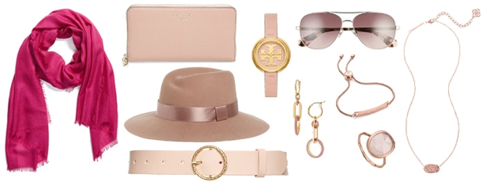 How to wear pink - pink accessories | 40plusstyle.com