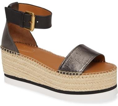 Best designer shoes - See by Chloé 'Gyn'  platform espadrille sandal | 40plusstyle.com