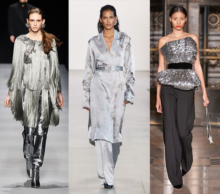 silver on the fall 2020 runways | 40plusstyle.com