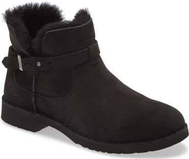 UGG 'Elisa' genuine shearling bootie | 40plusstyle.com