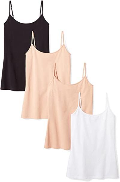 Amazon Essentials 4-Pack slim-fit camisole | 40plusstyle.com