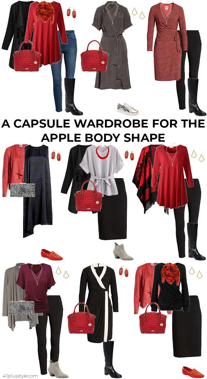 A capsule wardrobe for the apple body shape - fall/winter   40plusstyle.com