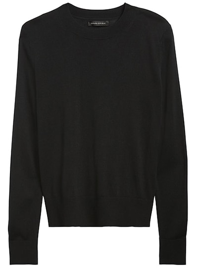 Banana Republic silk cashmere relaxed sweater   40plusstyle.com