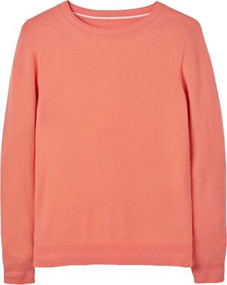 Boden cashmere crewneck sweater   40plusstyle.com