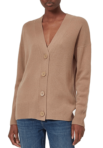 Equipment cashmere cardigan | 40plusstyle.com