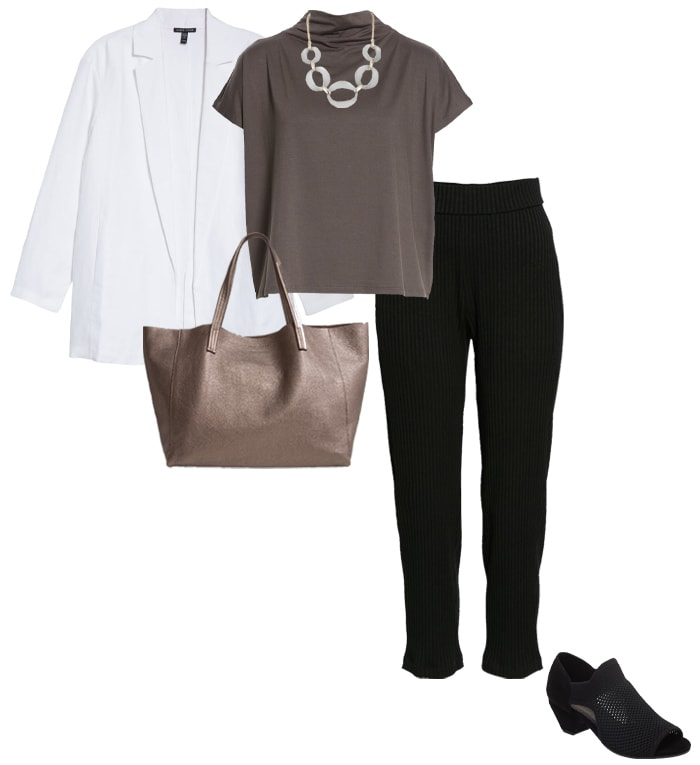 Minimal capsule wardrobe for winter from Eileen Fisher | 40plusstyle.com