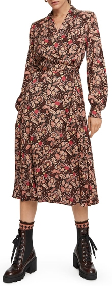 Scotch & Soda floral wrap dress | 40plusstyle.com