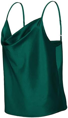 TOUTOUAI satin cowl neck camisole | 40plusstyle.com
