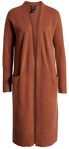Halogen wool & cashmere long cardigan   40plusstyle.com