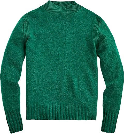 J.Crew cashmere mock neck sweater | 40plusstyle.com