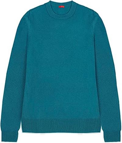 JENNIE LIU pure cashmere crewneck sweater   40plusstyle.com