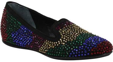 J. Reneé 'Hanuko' crystal embellished loafer flat   40plusstyle.com