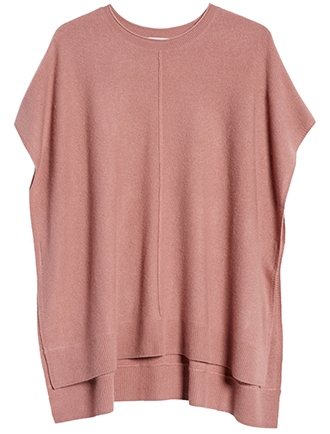 Nordstrom high/low wool & cashmere poncho | 40plusstyle.com