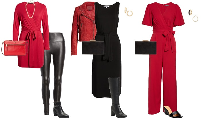 Red and black outfit ideas   40plusstyle.com