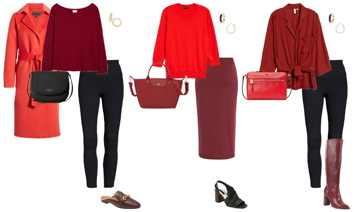 How to wear red and burgundy | 40plusstyle.com