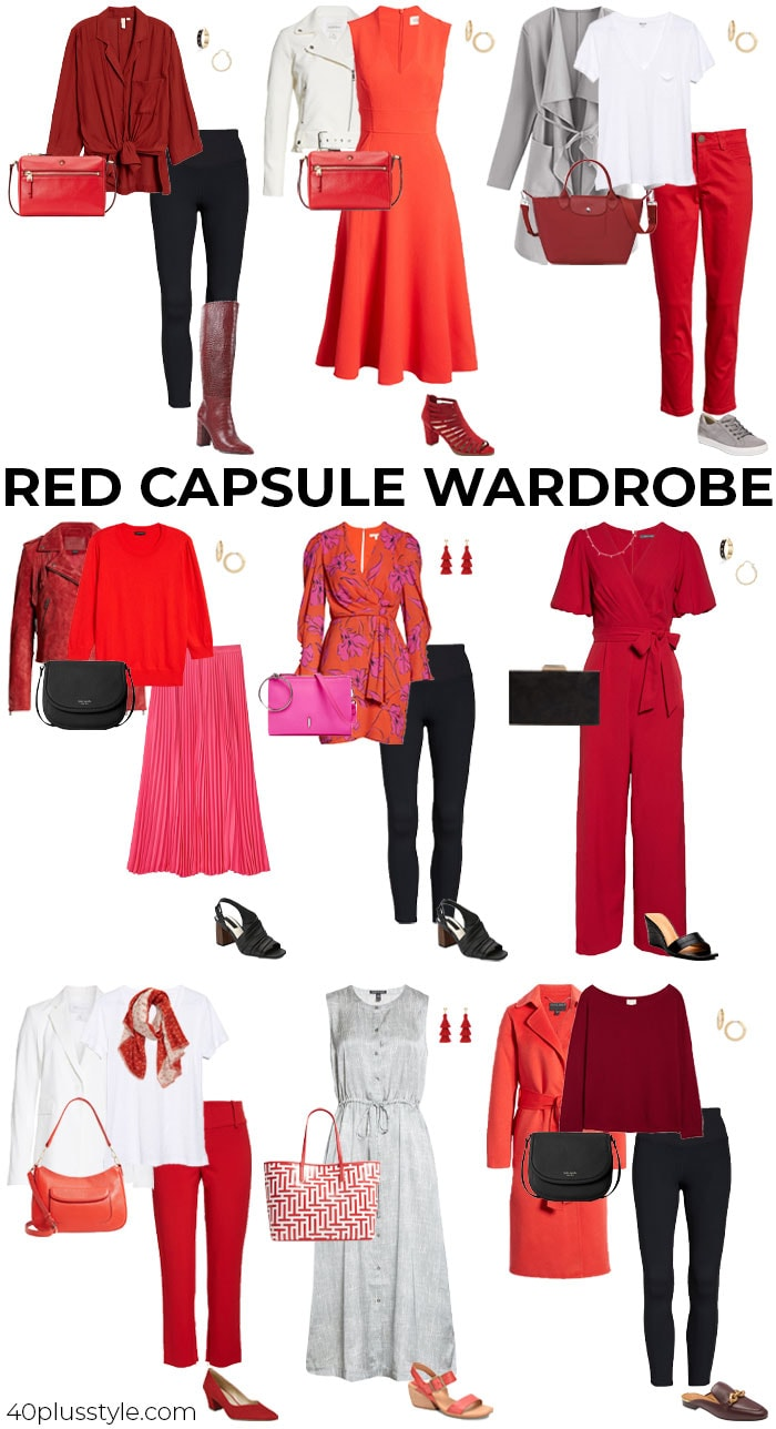 Red capsule wardrobe   40plusstyle.com
