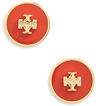 Tory Burch circle stud earrings | 40plusstyle.com