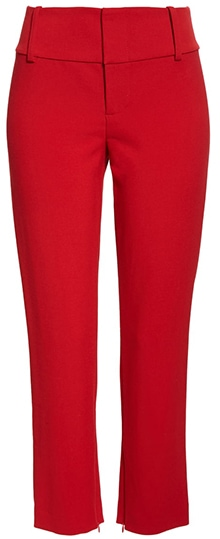 Alice + Olivia high waist zip cuff pants | 40plusstyle.com