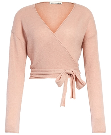 Reformation cashmere wrap sweater | 40plusstyle.com