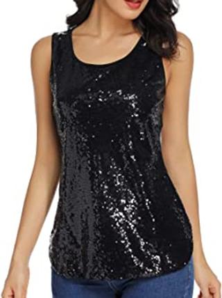 LLmansha shimmer camisole | 40plusstyle.com