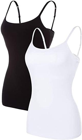 shelf bra camisoles | 40plusstyle.com