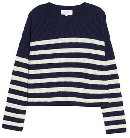 La Ligne stripe cashmere sweater   40plusstyle.com