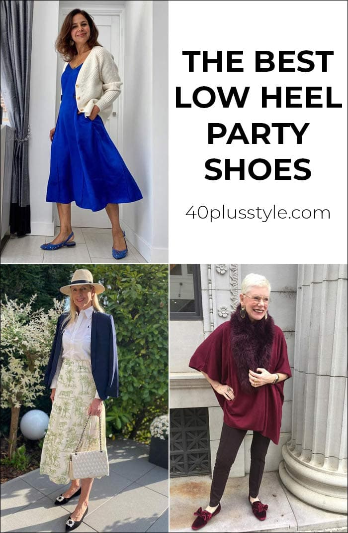 The best low heel party shoes that look even better than stilettos | 40[plusstyle.com