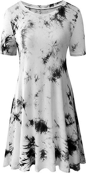 Dresses to hide a tummy - TINYHI swing tunic dress   40plusstyle.com