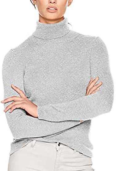 turtleneck cashmere sweater | 40plusstyle.com