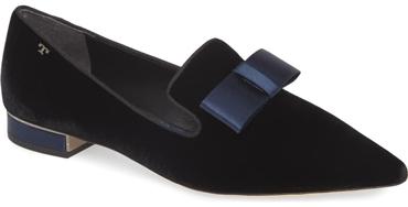 Tory Burch 'Gigi' bow loafer | 40plusstyle.com