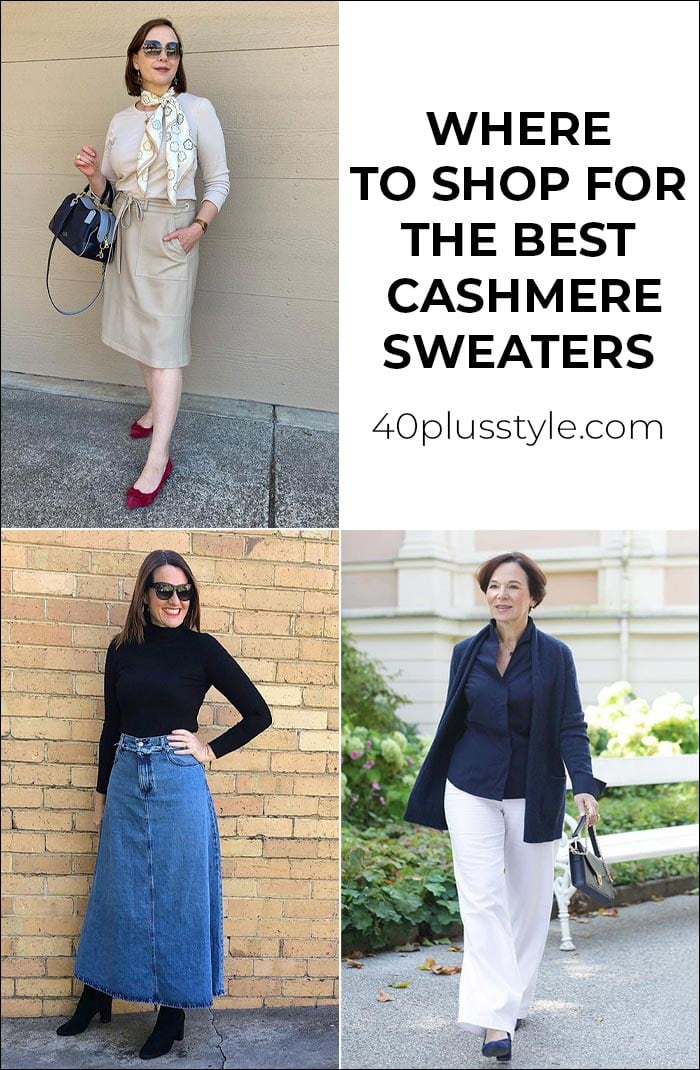 Where to shop for the best cashmere sweaters this fall | 40plusstyle.com