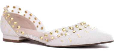 Cecilia New York studded d'Orsay flat   40plusstyle.com