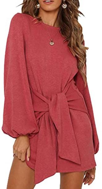 R.Vivimos tie waist winter dress   40plusstyle.com