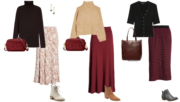 How to wear booties with skirts | 40plusstyle.com