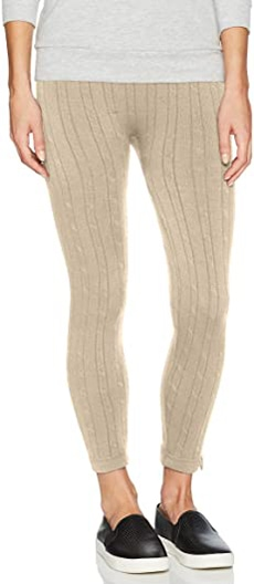 MUK LUKS cable knit leggings | 40plusstyle.com