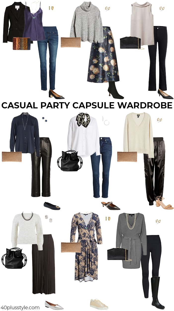 Casual party capsule wardrobe | 40plusstyle.com