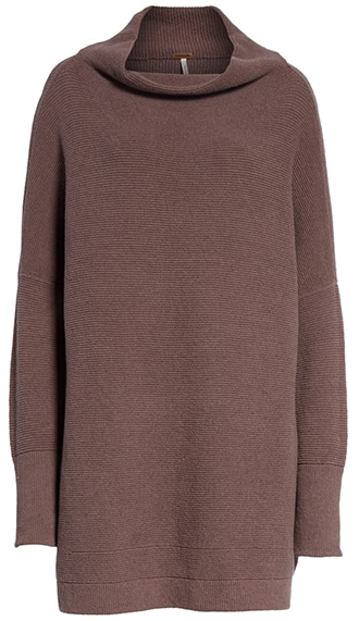 Work from home clothes - Free People slouchy tunic | 40plusstyle.com