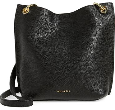 Ted Baker London leather crossbody bag | 40plusstyle.com