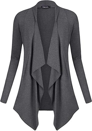 Urban CoCo drape front open cardigan | 40plusstyle.com