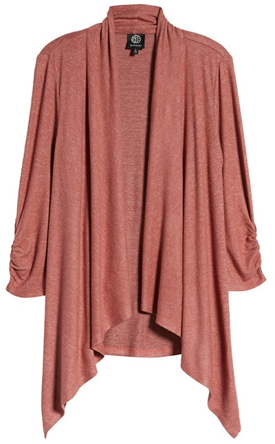 Work from home clothes - Bobeau drape front cardigan | 40plusstyle.com
