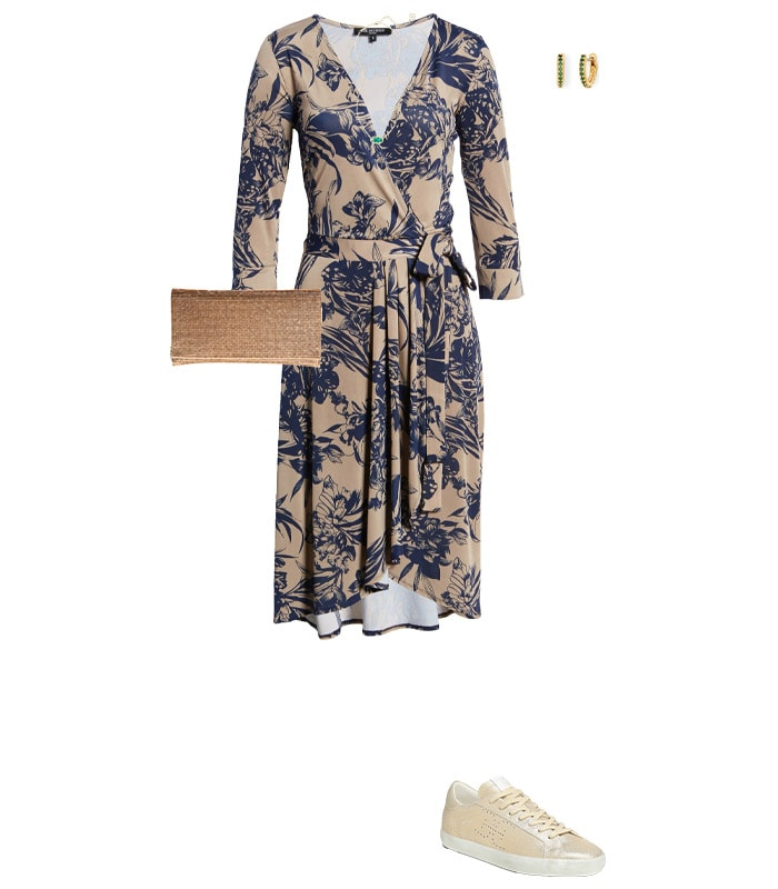 Wearing a dress with sneakers | 40plusstyle.com